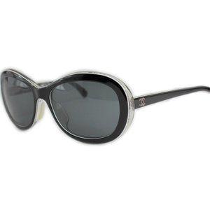 Chanel CC Logos Sunglasses Frames Black 5219-A